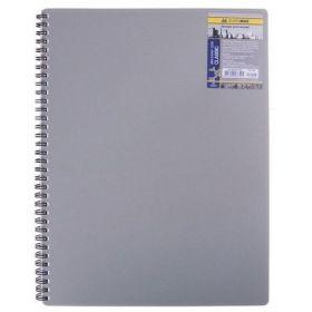 Бизнес-тетрадь на пружине Classic А4, 80 листов, клетка, пластиковая обложка, серый