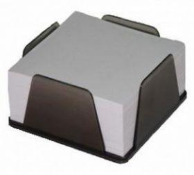 Бокс с белой бумагой 90х90 мм, 500 л., дымчатый