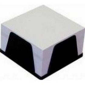 Бокс с белой бумагой 90х90 мм, 500 л., черный