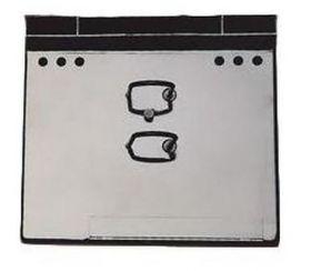 Подставка для календаря пластиковая КИП Универсал, черная