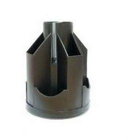 Подставка-органайзер для ручек пластиковая КИП Ракета, черная