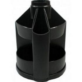 Подставка-органайзер для ручек пластиковая КИП Вертушка маленькая, черная
