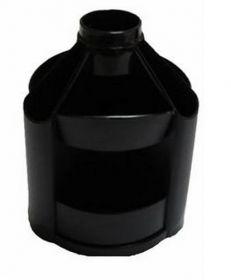 Подставка-органайзер для ручек пластиковая КИП Вертушка средняя, черная