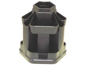 Подставка-органайзер для ручек пластиковая КИП Вертушка большая, черная