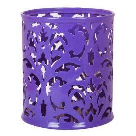 Подставка для ручек металлическая Buromax BAROCCO, фиолетовая