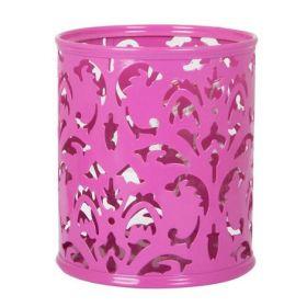 Подставка для ручек металлическая Buromax BAROCCO, розовая