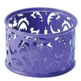 Подставка для скрепок металлическая Buromax BAROCCO, фиолетовая
