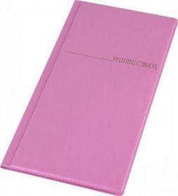 Визитница 96 визиток (PVC, фиолетовая)