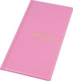 Визитница с впаянными файлами Panta Plast, 96 визиток, PVC, розовая