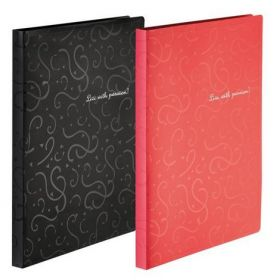 Папка A4 с боковым прижимом, RED&BLACK, красная