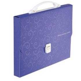 Пластиковый портфель Buromax BAROCCO A4, 1 отделение, фиолетовый