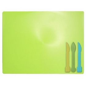 Доска для пластилина ZiBi 18х25 см, 3 стека, салатовая
