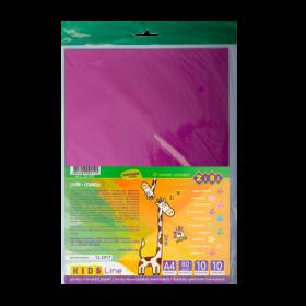 Бумага цветная глянцевая А4, 10 листов, 10 цветов