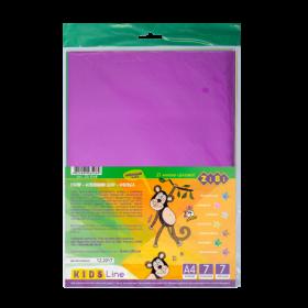 Бумага цветная самоклеящаяся металлизированная, А4, 7 листов, 7 цветов