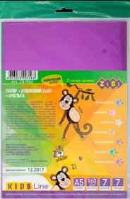 Бумага цветная самоклеящаяся металлизированная, А5, 7 листов, 7 цветов