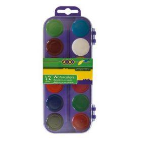 Краски акварельные Zibi, без кисти, 12 цветов