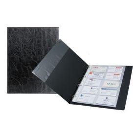 Визитница на кольцах Axent, 200 визиток, Xepter, черная