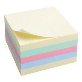 Блок бумаги для записей 75x75 мм, 450 л., пастель, ассорти