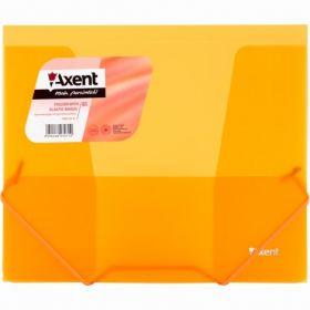 Папка на резинках Axent В5, 450 мкм, оранжевая