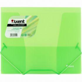 Папка на резинках Axent В5, 450 мкм, зеленая