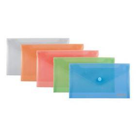 Папка-конверт на кнопке Axent DL, 180 мкм, ассорти
