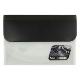Папка-конверт на липучке Axent Magic Stones А4, 4 отделения, 400 мкм, Onyx