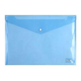 Папка-конверт на кнопке Axent А4, 180 мкм, синяя