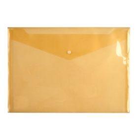Папка-конверт на кнопке Axent А4, 180 мкм, оранжевая