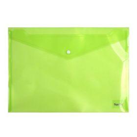 Папка-конверт на кнопке Axent А4, 180 мкм, зеленая