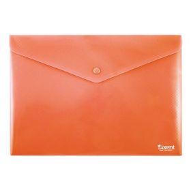 Папка-конверт на кнопке Axent А4, 180 мкм, красная