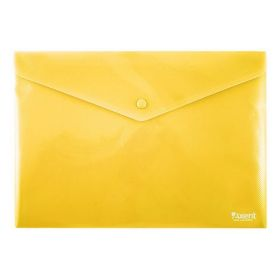 Папка-конверт на кнопке Axent А4, 180 мкм, желтая