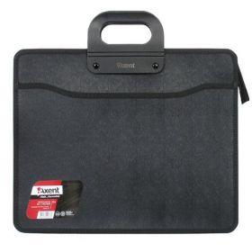 Пластиковый портфель Axent В4, 3 отделения, черный