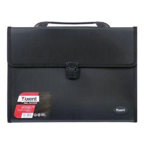 Пластиковый портфель Axent А4, 3 отделения, черный