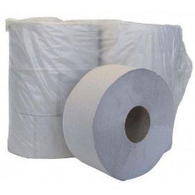 Бумага туалетная макулатурная на гильзе Джамбо, 1 слой, серая