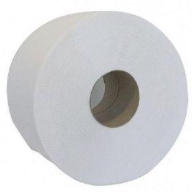 Бумага туалетная целлюлозная на гильзе Джамбо, 2 слоя, белая