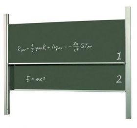 Доска-слайдер аудиторная для мела керамическая 2х3 120х250 см
