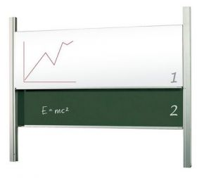 Доска-слайдер аудиторная магнитно-маркерная/для мела керамическая 2х3 120х300 см
