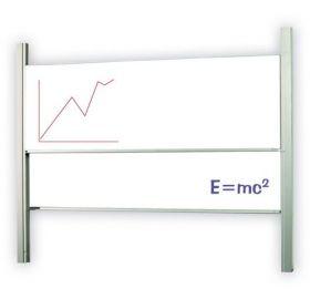 Доска-слайдер аудиторная магнитно-маркерная керамическая 2х3 120х300 см