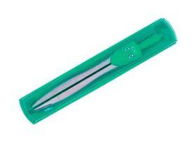 Циркуль зеленый, в пенале с крышкой-линейкой