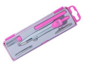 Готовальня BASIS, 5 предметов, розовый