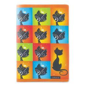 Блокнот, А5, 80 листов, клетка, пластиковая обложка, Catsline