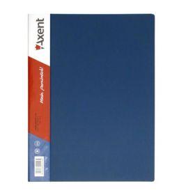 Папка с прижимом Axent A4, 700 мкм, синяя