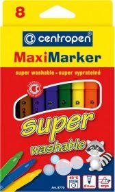 Фломастеры Super Washable Maxi 8770, Centropen, 8 цветов