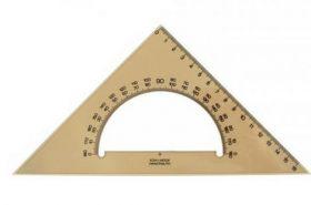 Треугольник 45°/177 мм с транспортиром, дымчатый