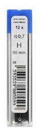 Грифели для механических карандашей Н, 0.7, 12 шт.