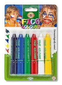 Краски для лица Koh-i-Noor, 6 цветов