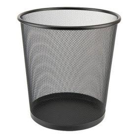 Корзина для бумаг металлическая Axent, черная