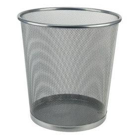 Корзина для бумаг металлическая Axent, серебристая