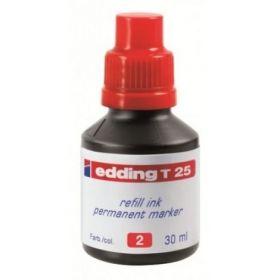 Чернила e-T25 для заправки перманентных маркеров, красный