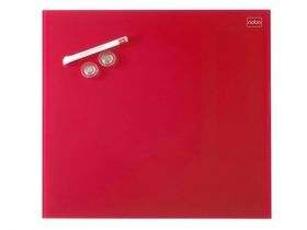 Доска стеклянная магнитно-маркерная Nobo Diamond  30х30 см, красная